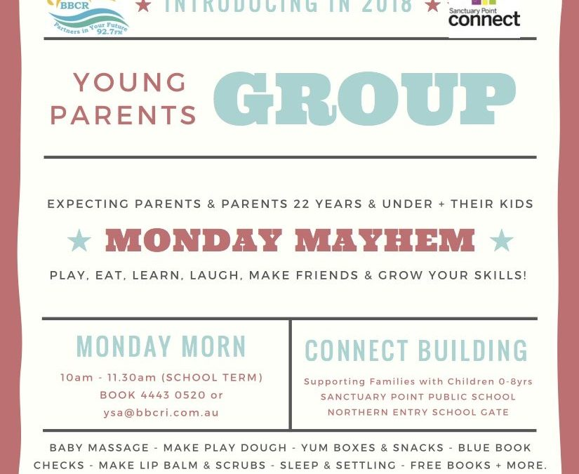 """Coming in 2018 """"Young Parents Group"""""""