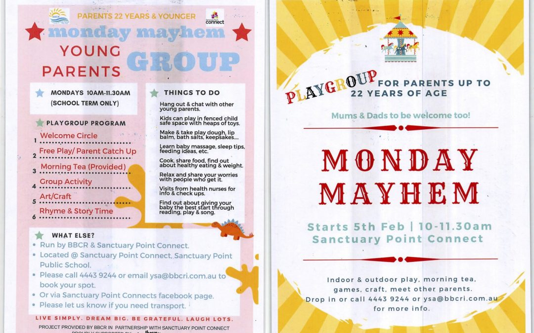 Monday Mayhem for young parents