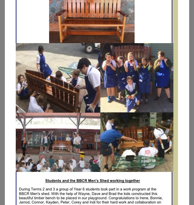 BBCR Men's Shed working together to support local schools in the Bay and Basin area.